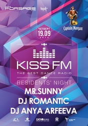MR.Sunny Romantic Anya Arfeeva 19.09.2013 Forsage Night Club Kiss FM Residents Night
